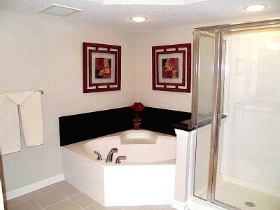 Master Baths with Marble Tub, Seperate Shower -YCV