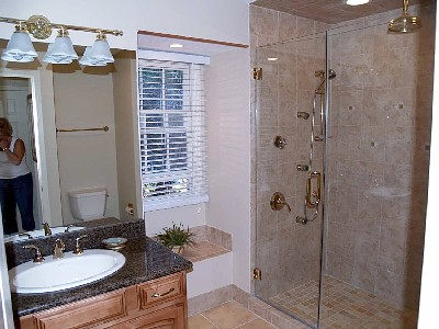 Master Bath with 6' Shower and 5 Shower Heads